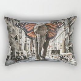 Lost Butterphant in NYC Rectangular Pillow