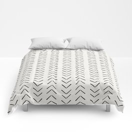 Mud Cloth Big Arrows in Cream Comforters