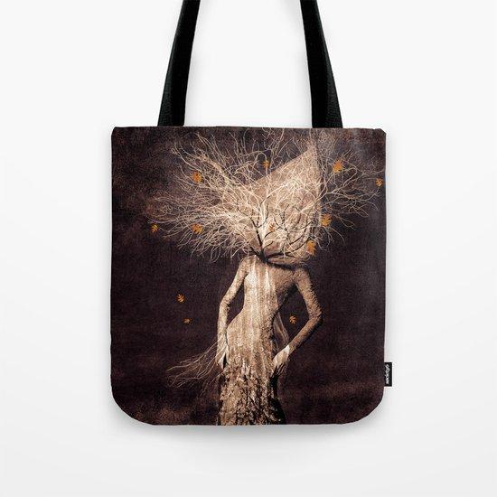 Dark portrait in autumn (colour option) Tote Bag