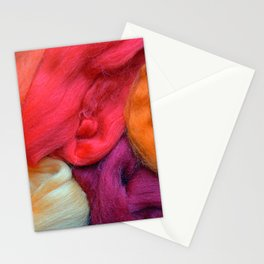 Orange, Red And Purple Wool Yarns Stationery Cards