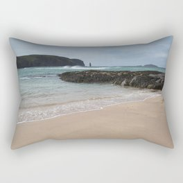 Sandwood Bay with Sea Stack Rectangular Pillow