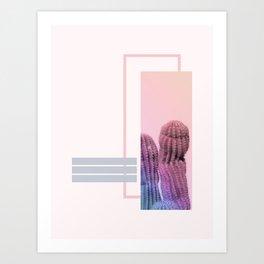 Pastel Cactus #society6 #spring Art Print