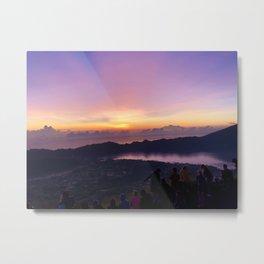 Mount Batur Volcano Metal Print