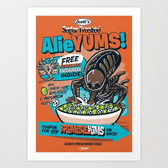 AlieYUMS! (orange variant) Art Print