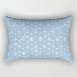 Tea time airy blue Rectangular Pillow