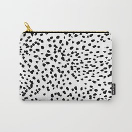 Nadia - Black and White, Animal Print, Dalmatian Spot, Spots, Dots, BW Carry-All Pouch