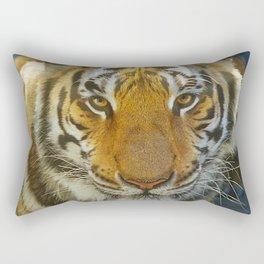 Tiger Face: Up Close and VERY Personal Rectangular Pillow