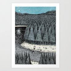 'Somewhere' (Colour) Art Print