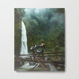 Adult adventure beauty mountain Metal Print