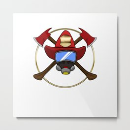 Firefighters Gift Metal Print