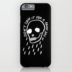 rainy day minimal skull hand lettering (dark) Slim Case iPhone 6s