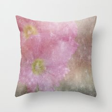 Hollyhock 1 Throw Pillow