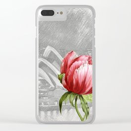 Macro Flower 32 Clear iPhone Case