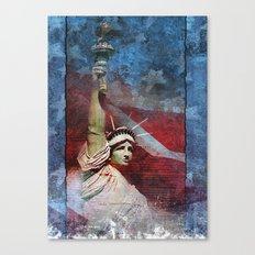 Statue of Liberty Patriotic Poster Canvas Print