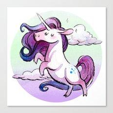 Chubby Unicorn: Indigo Canvas Print