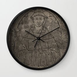 Monk mural Wall Clock