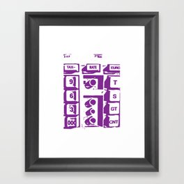 Calculator Framed Art Print
