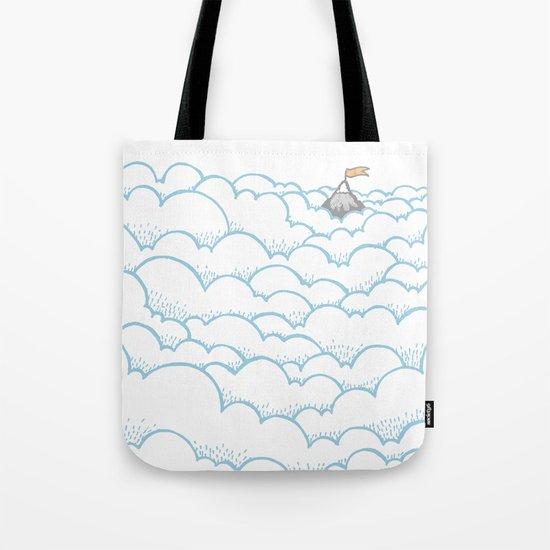 Peak above the clouds Tote Bag