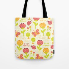 Hello Flower Tote Bag