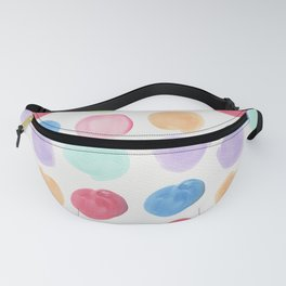 Colorful trendy colors large watercolor polka dots Fanny Pack
