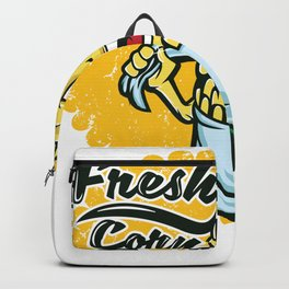 A Corny Tee Design Saying Fresh Corn T-shirt Design Farmers Vegetable Yellow Agriculture Plants Backpack