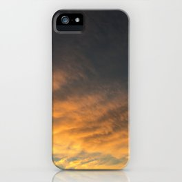 yellow/orange sky iPhone Case