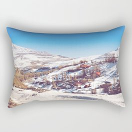 Snowy Village 1 Rectangular Pillow