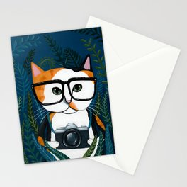 The Calico Photographer Cat Stationery Cards