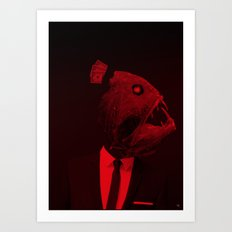 red 3 · the truth is dead Art Print
