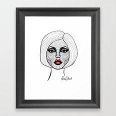 Face Analysis Framed Art Print