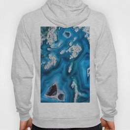 Frosted blue agate slice 3032 Hoody