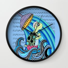 Dylan shower time Wall Clock