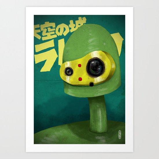 Laputian Robot Art Print
