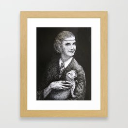Hermione with an Otter Framed Art Print