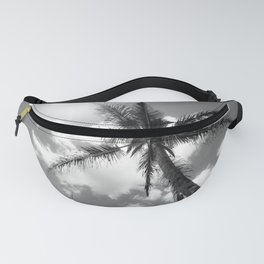Tropical Palm Trees Black and White Fanny Pack