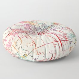 Southaven map Mississippi MS Floor Pillow