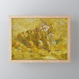Quinces, Lemons, Pears and Grapes by Vincent van Gogh Framed Mini Art Print