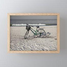 Bike on Barefoot Beach Framed Mini Art Print