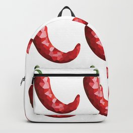 chilli 3x3 pattern, fill, repeating, tiled | elegant Backpack