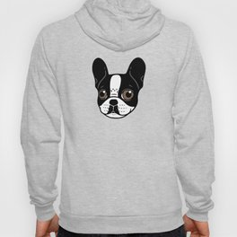 Double Hooded Pied French Bulldog Puppy Hoody
