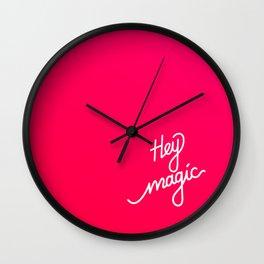 Hey magic   [gradient] Wall Clock