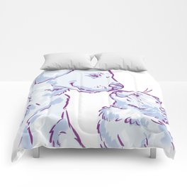 Love cat and dog Comforters