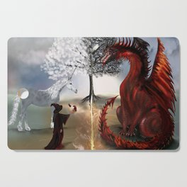 The Owl,Wizard,Unicorn and the Dragon Cutting Board