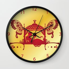 Bridal Palanquin India.doli silhouette Wall Clock