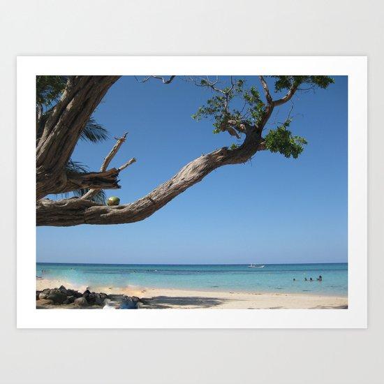 Jamaica - Glorious Sandy Beach Art Print