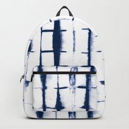 Shibori Stripes 4 Indigo Blue Backpack