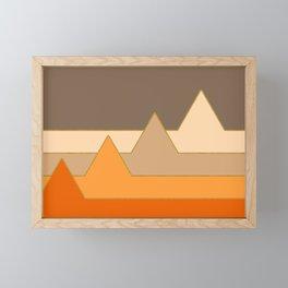 Orange Mountains #society6 #decor #buyart Framed Mini Art Print