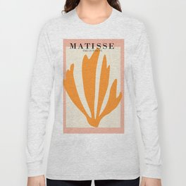 Henri matisse the cut outs contemporary, modern minimal art Long Sleeve T-shirt