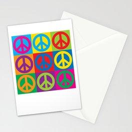Pop Art Peace Symbols Stationery Cards