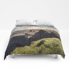 Irish Sea Cliffs Comforters